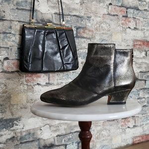 Earthie's DEL REY PEWTER Ankle Boots Size 7.5